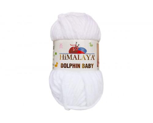 Пряжа Гималаи/Хималая Долфин Беби – цвет 80301 белый
