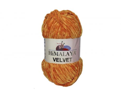 Пряжа Гималаи/Хималая Вельвет – цвет  90016 апельсин