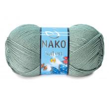 Nako Saten 10937 серо-зеленый