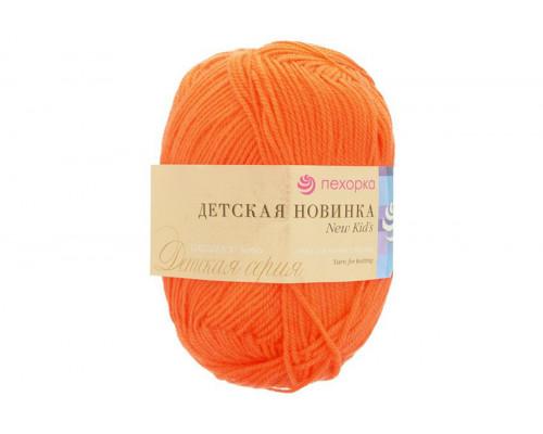 Пряжа/нитки Пехорка Детская Новинка – цвет 284 оранжевый